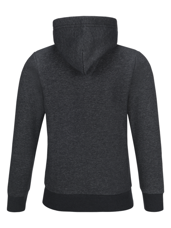 Kids Logo Zipped Hoodie Dk Grey Mel | Peak Performance