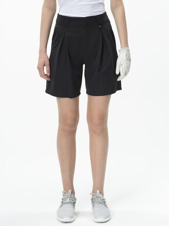Women's Golf Swinley Pleat Shorts Black | Peak Performance
