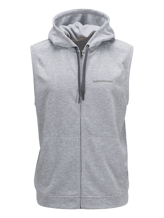 Men's Structure Hooded Vest Med Grey Mel | Peak Performance