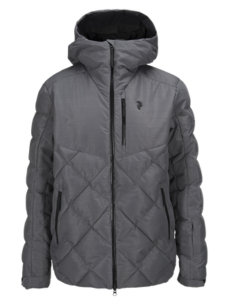 Men's Alaska Melange Ski Jacket Grey melange | Peak Performance
