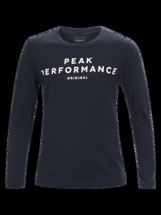Kids Long-sleeved T-shirt Salute Blue | Peak Performance
