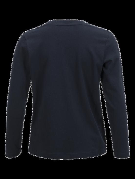Kids Long-sleeved T-shirt  Salute Blue   Peak Performance
