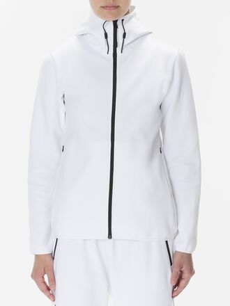 Sweat zippé à capuche pour femmes Tech White | Peak Performance