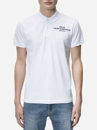 Men's Logo Pique White | Peak Performance