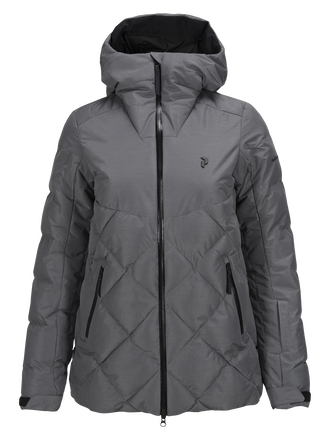 Women's Alaska Melange Ski Jacket Grey melange | Peak Performance