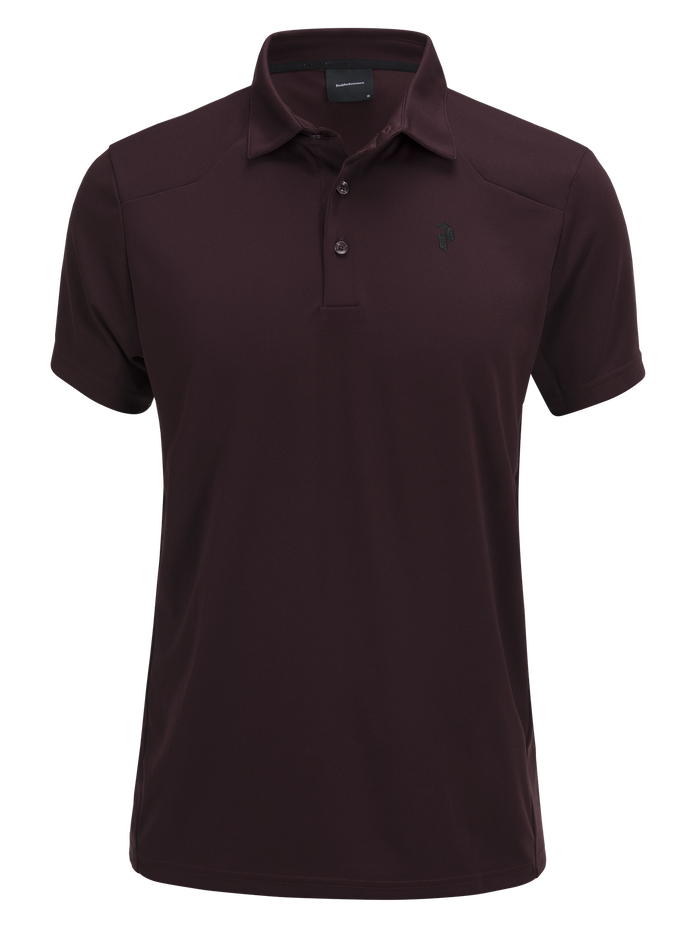 Men's Versec Golf Polo Mahogany | Peak Performance