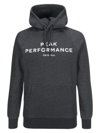 Men's Logo Hoodie Dk Grey Mel | Peak Performance