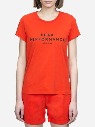 Women's Logo T-shirt Poppy Red | Peak Performance