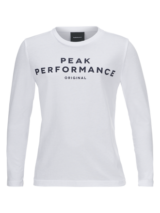 Kids Logo Long-sleeved Jersey White | Peak Performance