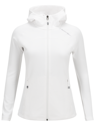 Women's Kate Zipped Hooded Mid-Layer Offwhite | Peak Performance