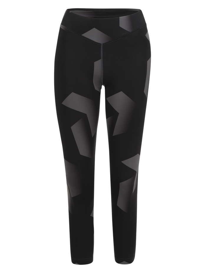 Women's Printed Cropped Running Tights Pattern | Peak Performance