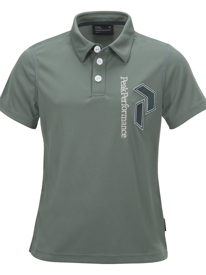 Kids Golf Panmore Polo  Slate Green | Peak Performance
