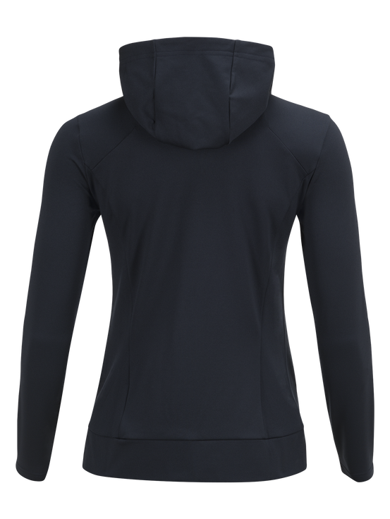 Women's Ace Zipped Hooded Mid-Layer Salute Blue | Peak Performance