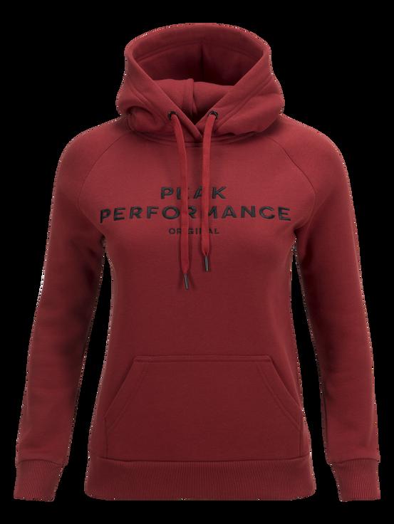 Women's Logo Hood Dusty Wine | Peak Performance