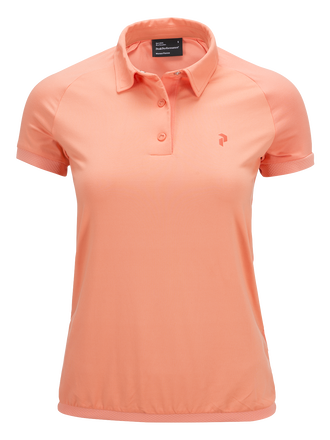 Women's Golf Milbrook Polo Coral Kick | Peak Performance