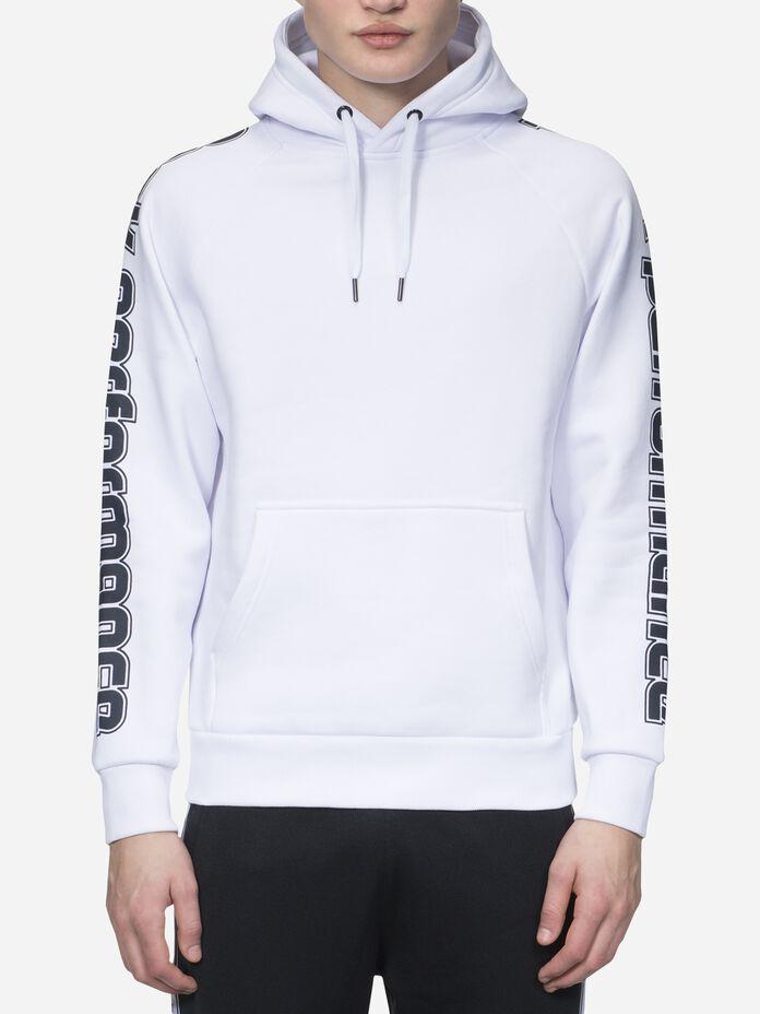 Herren Sportswear Mit Print Hoodie White | Peak Performance