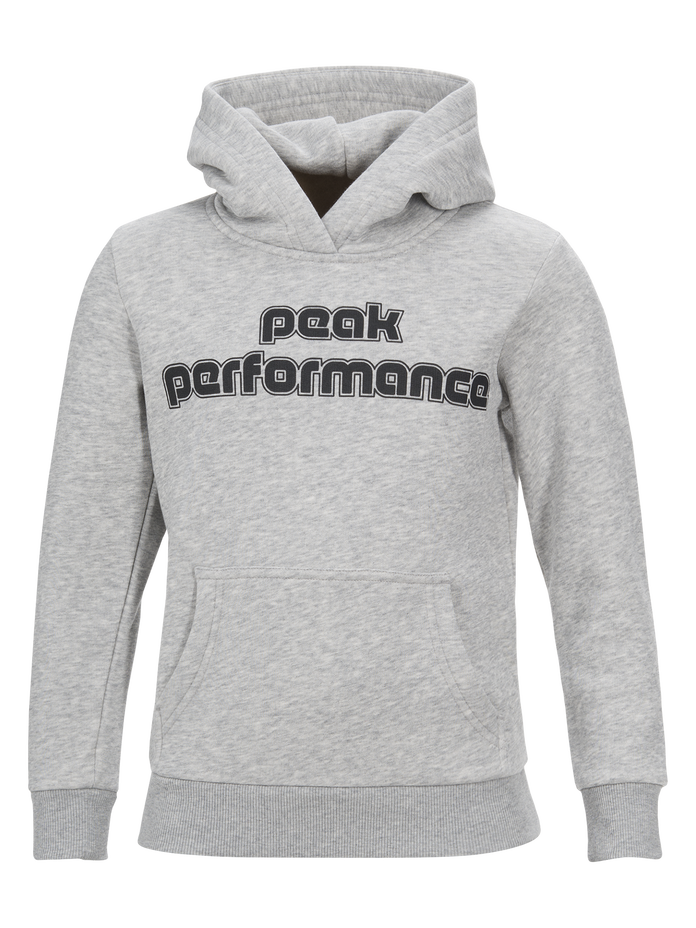 Kids Sportswear Printed Hoodie Med Grey Mel | Peak Performance