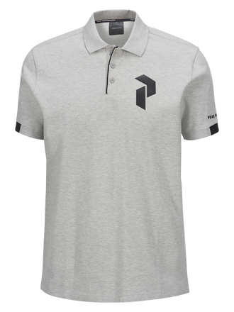 Men's Tech Pique Med Grey Mel | Peak Performance