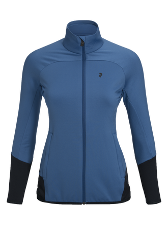 Women's Ace Zipped Mid-Layer Stream Blue | Peak Performance
