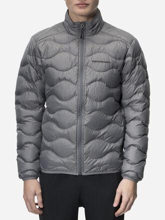 Men's Helium Melange Down Jacket Grey melange | Peak Performance