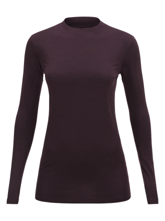 Women's Civil Merino Long-sleeved T-shirt Mahogany | Peak Performance