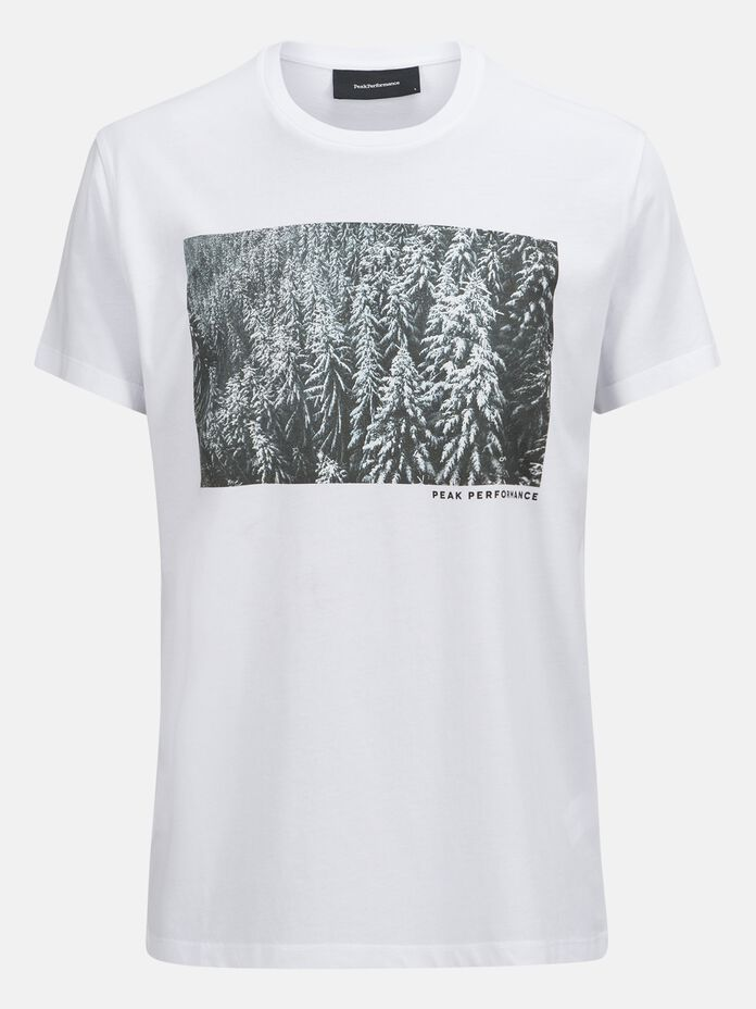 T-shirt Unisex Enter the Wild White | Peak Performance