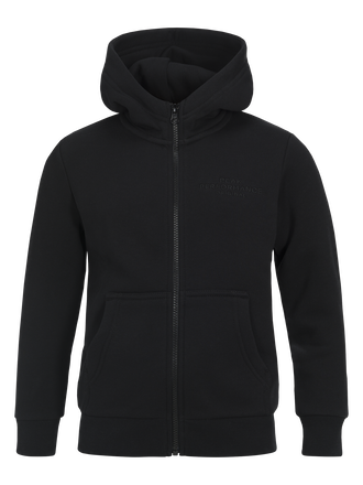 Kids Zipped Hooded Sweater Black | Peak Performance