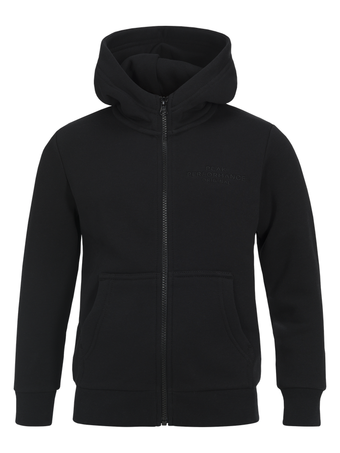 Kids Zipped Hooded Sweater Black | Peak Performance