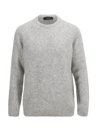 Men's Fleet Crew neck Med Grey Mel | Peak Performance