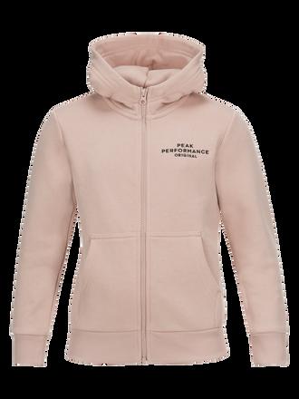 Kids Logo Zipped Hoodie Softer Pink | Peak Performance