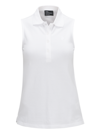 Women's Golf Sleeveless Piqué White | Peak Performance