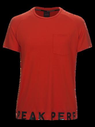 Tech Cutout t-shirt för herrar Poppy Red | Peak Performance