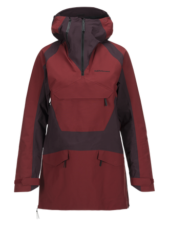 Anorak de ski femme Volcan Dusty Wine | Peak Performance