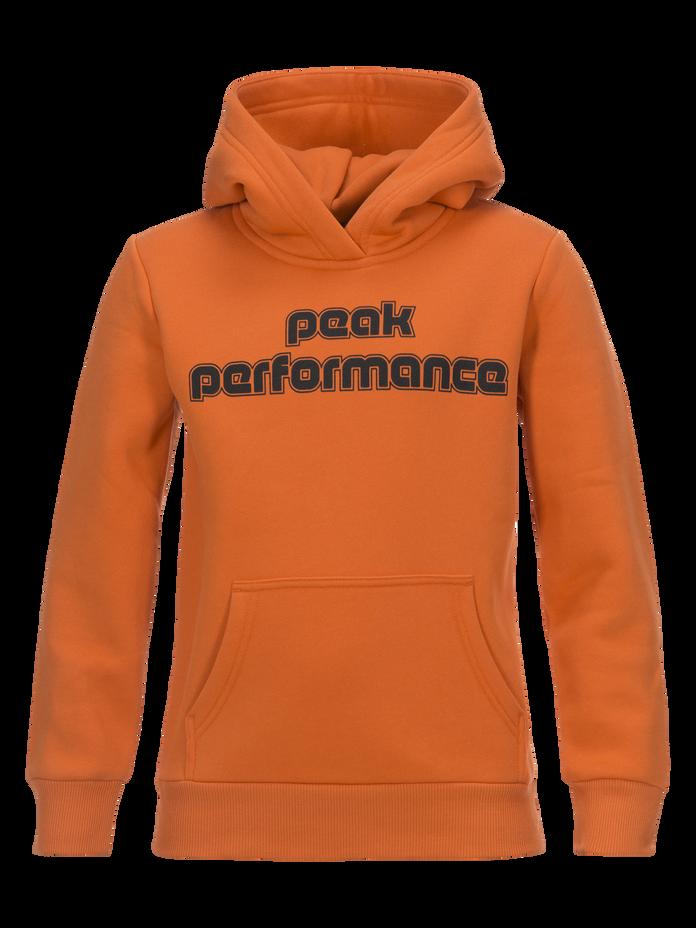 Kids Sportswear Printed Hoodie Orange Flow | Peak Performance