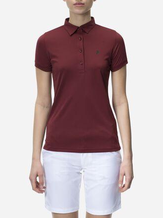Damen Elsham Poloshirt Baked Red | Peak Performance
