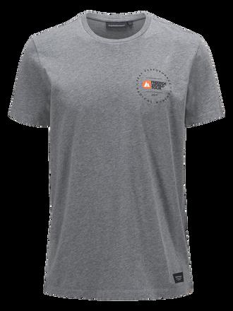 Men's Freeride World Tour T-shirt Grey melange | Peak Performance