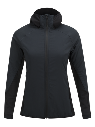 Damen Hybrid Mid Skijacke Black | Peak Performance