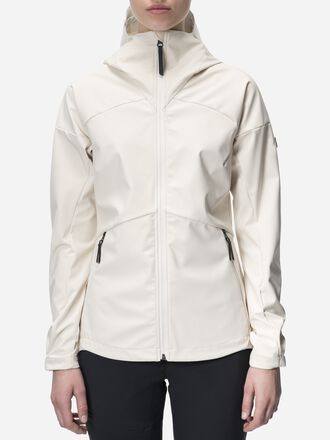 Women's Adventure Hooded Jacket Milk White | Peak Performance