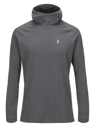 Men's Hooded Power Jersey Grey melange | Peak Performance