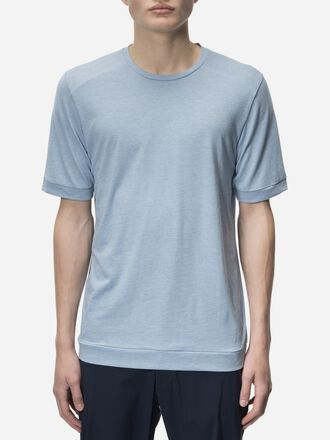 Men's Civil Cuff T-shirt Downy Blue | Peak Performance