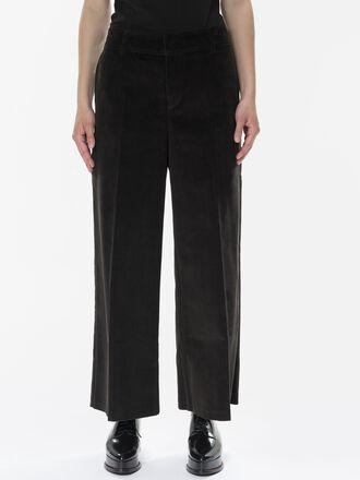 Women's Tailored Cord Pants Black | Peak Performance