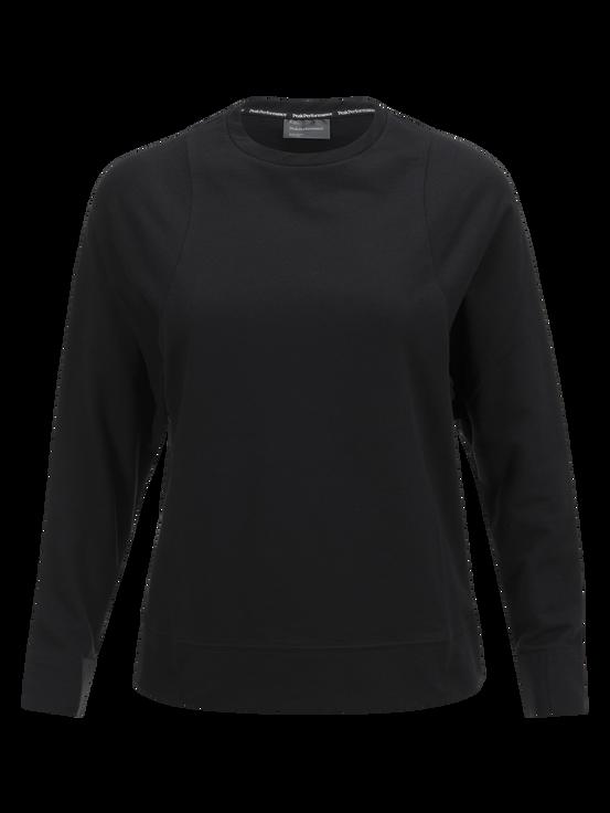 Tech Lite rundringad tröja för damer Black | Peak Performance