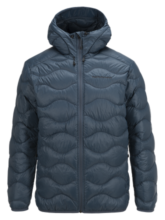 Men's Helium Hooded Jacket Blue Steel | Peak Performance