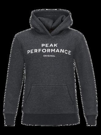 Kids Logo Hoodie Dk Grey Mel   Peak Performance