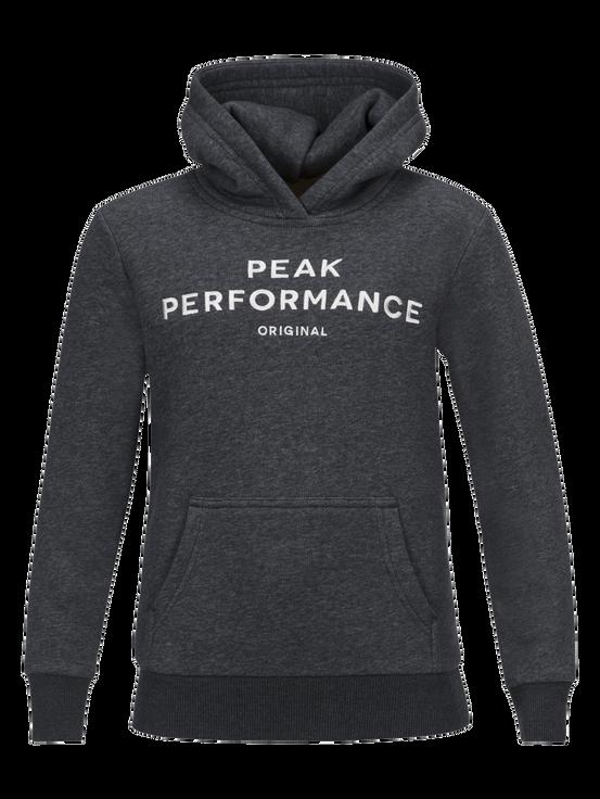 Kids Logo Hoodie Dk Grey Mel | Peak Performance