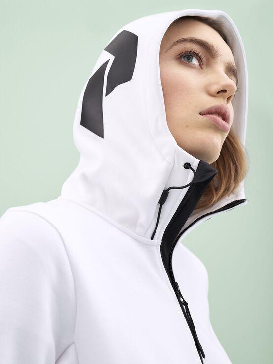 Women's Tech Zipped Hoodie White | Peak Performance