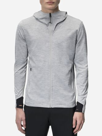 Men's Civil Hooded Mid Jacket Med Grey Mel | Peak Performance