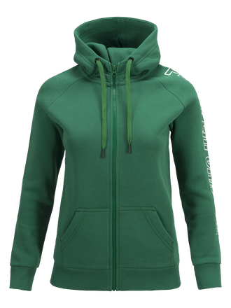 Women's Zipped Hooded Sweater Green Pepper | Peak Performance