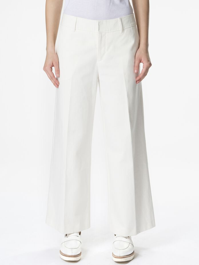 Women's Tailored Twill Pants Offwhite | Peak Performance