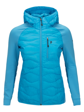 Women's Helium Hybrid Hooded Liner Jacket Active Blue | Peak Performance